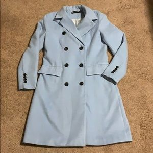 Trench Fall Coat Blue Size M.